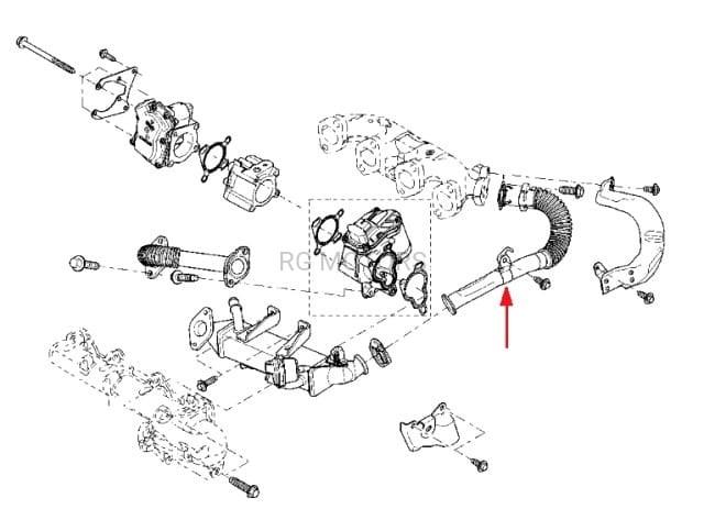 Rurka EGR rura Renault Master III 2.3 dCi, Opel Movano 2.3