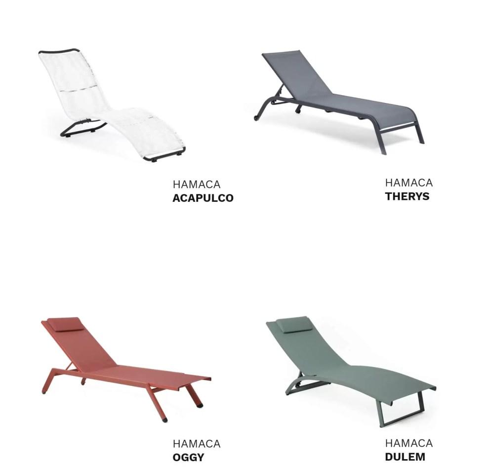 modelos de hamacas para terraza disponibles