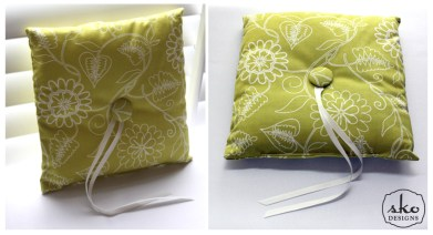 Floral Lime Ring Pillow