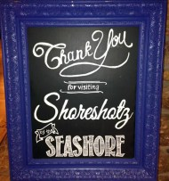 Chalkboard designed for Shoreshotz Photography for the Not Wedding at Sea Crest Beach Hotel. Design by SKO Designs.