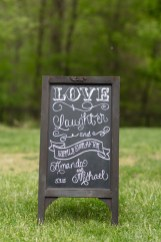 Backside of the unplugged chalkboard.