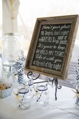 Custom chalkboard with rustic wood frame by SKO Designs. Photography by Organic Photography.
