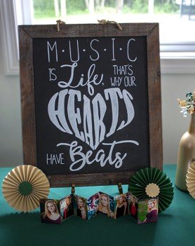 Music is Life Chalkboard