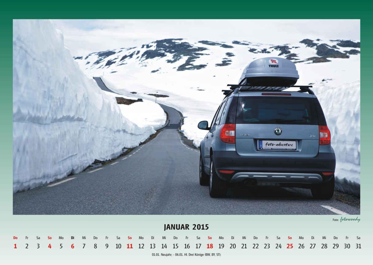Yeti Kalender Bestellbar