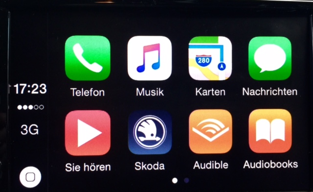 Apple CarPlay Skoda