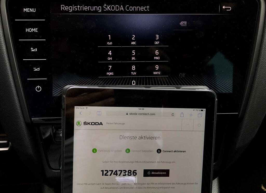 Skoda Connect in vier Schritten aktivieren