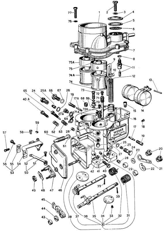 WEBER 24/30 DCZC 1 parts diagram