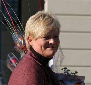 Kristin Halvorsen har saman med resten av regjeringa styrt økonomien på ein god måte. Foto: http://commons.wikimedia.org/wiki/File:Wikipedia, Kristin_Halvorsen_SV_finansminister_20051017.jpg