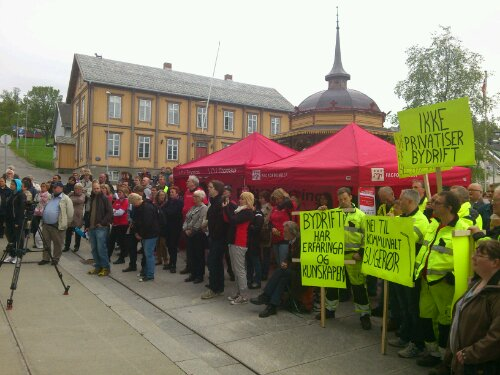 Markeringa  mot  privatisering