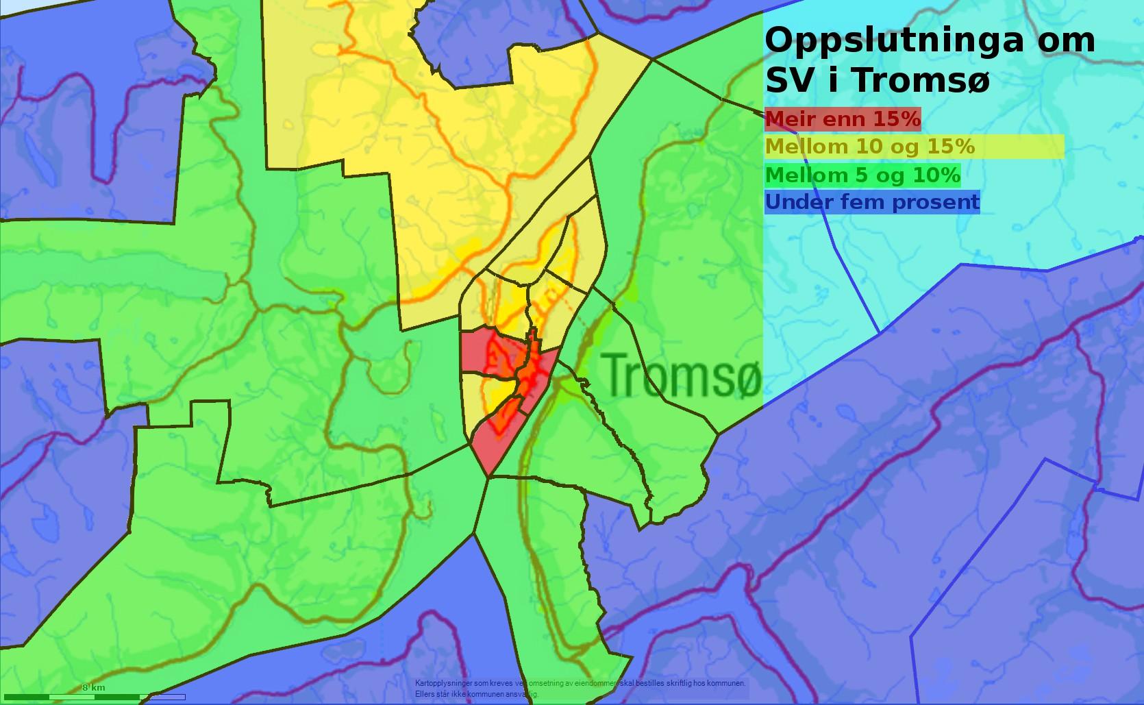 Valet  i  Tromsø  på  kart