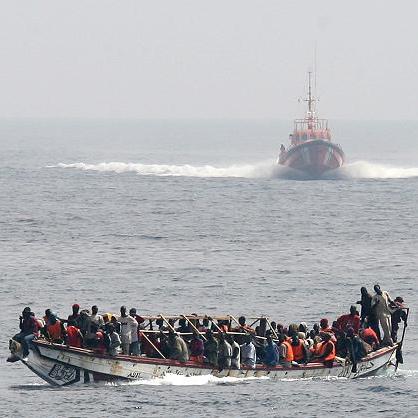 Cayuco, denne er frå i nærleiken av Kanarieøyane. Foto: noborders network