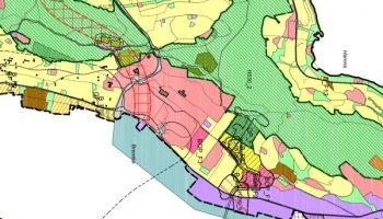 Utsnitt forslaget til arealplan - Stakkevollan