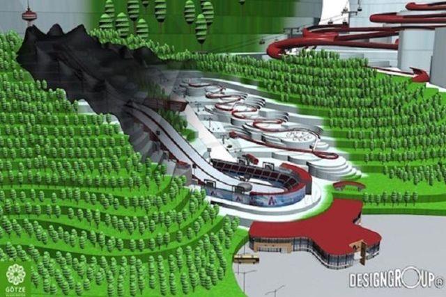 Wizualizacja projektu krytych skoczni w Wernigerode (fot. Designgroup / Designgroup.eu)