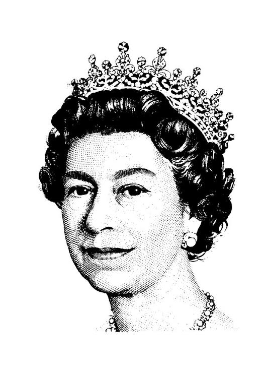 Mlarbild Drottning Elizabeth II Bild 29435
