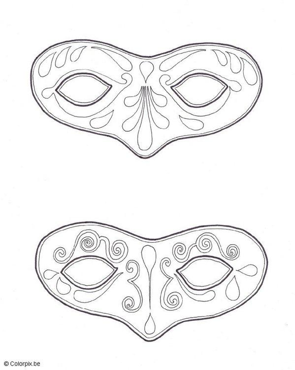 Målarbild masker - Skriv Ut Gratis Bilder