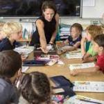 overwerkte leerkracht
