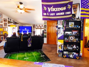 Vikings Man Cave SKOL Ranch Loft Entertainment Area Accommodations