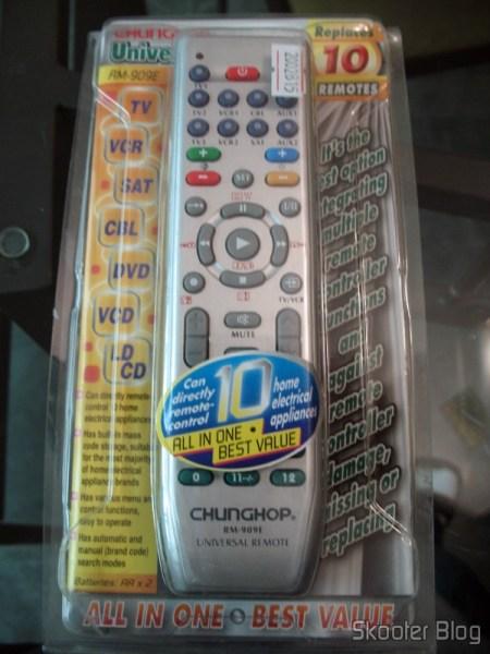 Controle Remoto Universal para 10 Aparelhos TV/VCR/DVD/VCD/AUX/SAT