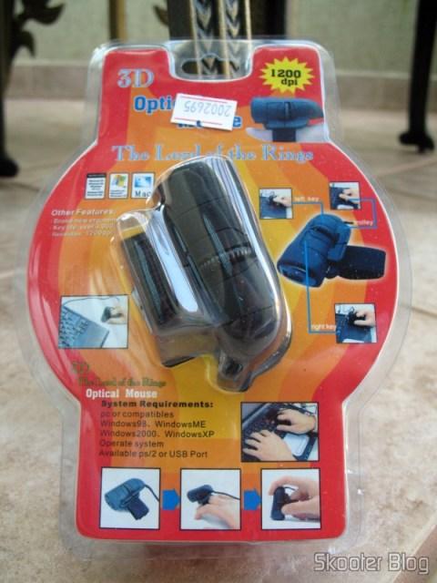Embalagem do Mouse Óptico USB de dedo