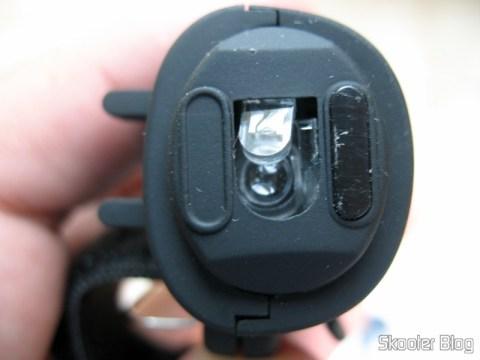 Mouse Óptico USB de dedo: faltando um dos pézinhos (skates)