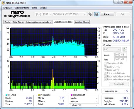 Scan de DVD com drive Samsung SH-S223F