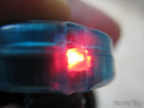 LED vermelho acionado