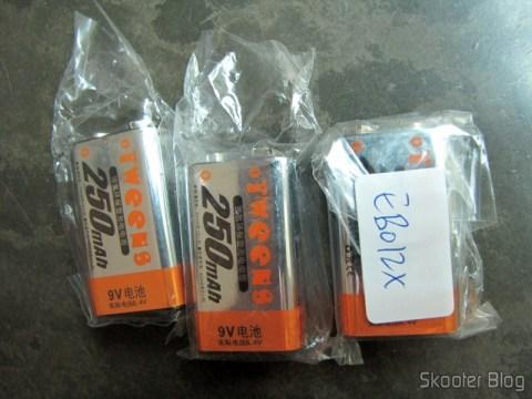 Baterias recarregáveis NiMH Tweens, sem embalagem específica