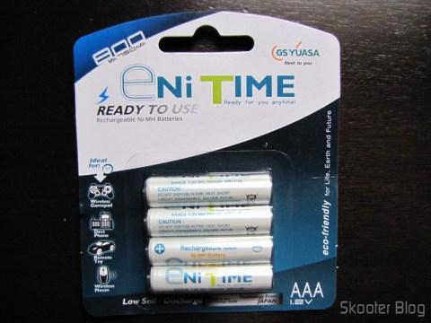 Pilhas GS Yuasa AAA NiMH LSD 750mAh na nova embalagem