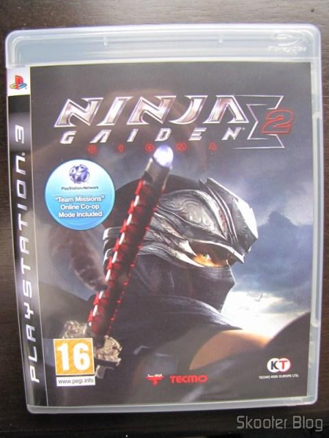 O box do Ninja Gaiden Sigma 2 do Playstation 3
