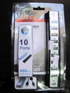 Hub USB 2.0 com 10 Portas e Fonte de Energia Externa