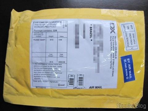 O pacote da DealExtreme com o produto que faltava