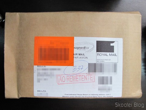 Envelope da ShopTo com o ModNation Racers do PS3