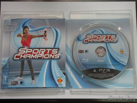 Manual e disco Blu-ray do Sport Champions - Move para o Playstation 3