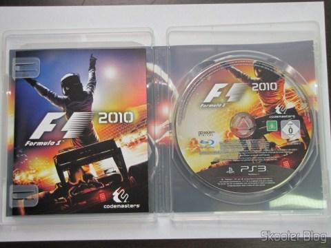 Manual e disco Blu-ray do F1 2010 (PS3)
