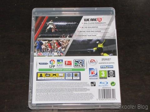 Parte traseira da caixa do Fifa 11 (PS3)
