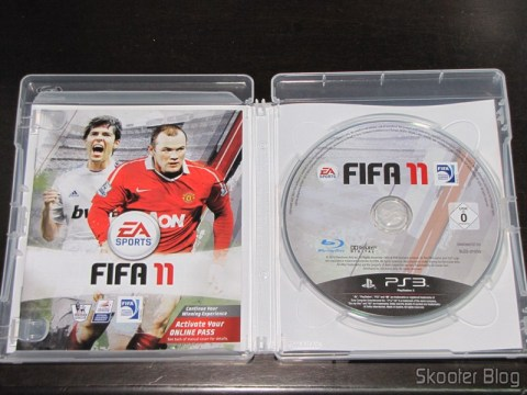 Manual e disco Blu-ray do Fifa 11 (PS3)