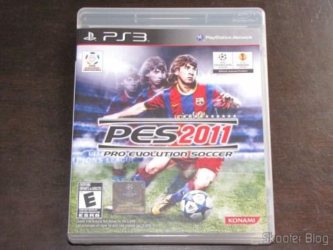 A capa do PES 2011 - Pro Evolution Soccer - versão americana