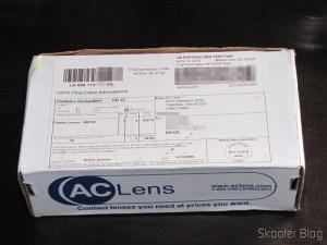 Caixinha da ACLens com as minhas lentes de contato Cooper Vision Biofinity Toric