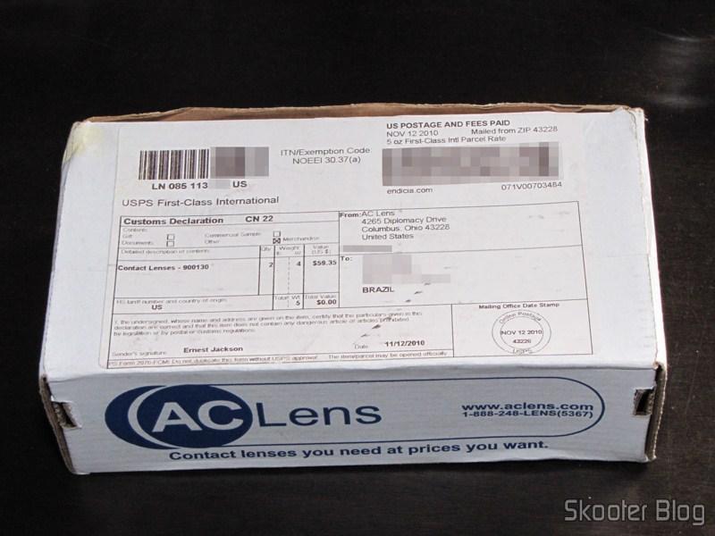 Caixinha da ACLens com as minhas lentes de contato Cooper Vision Biofinity  Toric 184ece7e10