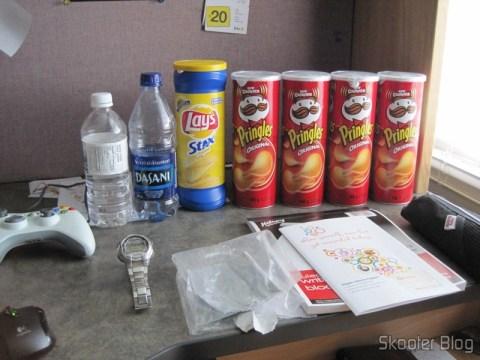 Em uma das promoções da Shoppers: quatro latas de Pringles por C$ 5,00 (dólares canadenses)