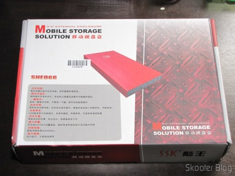 """Caixa do Case para HD externo 2.5"""" SSK SHE066-F vermelho - Solução para armazenamento móvel"""