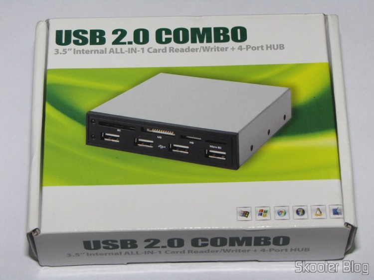 """Front Panel for 3.5 bay"""" with card reader and SDHC/MS/SD/MMC/TF/M2 4 USB ports on your chest"""