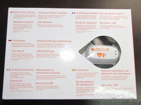 Parte interna da caixa do EA SPORTS Active 2 do Playstation 3
