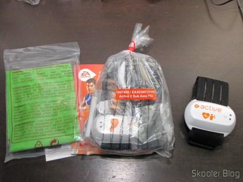 Faixa elástica de latex, manual e sensores do EA SPORTS Active 2 do Playstation 3