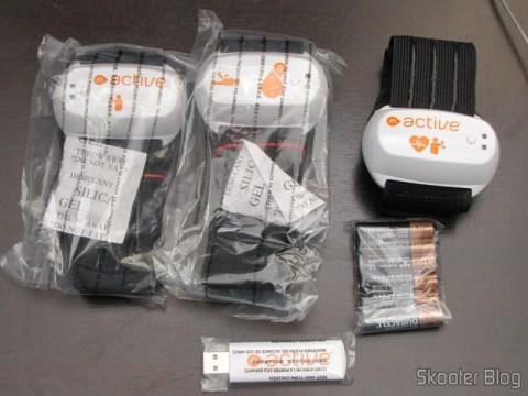 Sensores e receptor sem fio USB do EA SPORTS Active 2 do Playstation 3