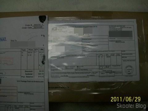 Foto do Package Imaging Service da eStarland, enviada por e-mail