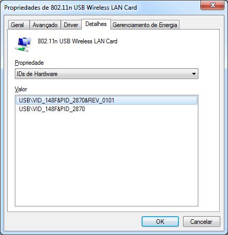 IDs de Hardware do Dongle de Rede Sem Fio WiFi USB 2.0 300Mbps 802.11n/g/b de Alta Potência