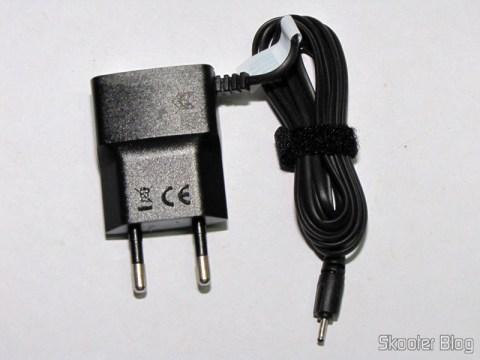 Carregador AC para Nokia X3/X6/N78/E63/E71, plug com dois pinos redondos, 100~240V