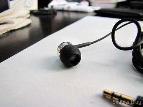 Cápsula do Fone de Ouvido In-Ear com Isolamento de Ruído com Plug P2 (3.5mm)