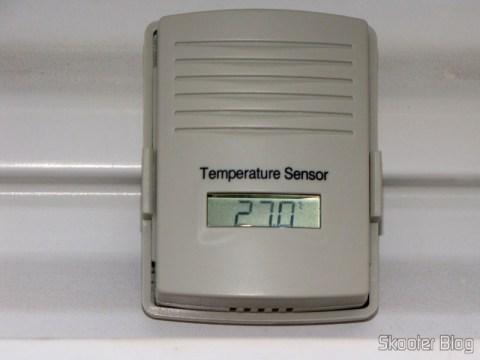 Sensor externo da Estação de Tempo com LCD de 4″, Relógio, Higrômetro, e Sensor de Temperatura Interno e Externo Sem Fio